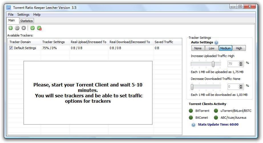 Torrent Ratio Keeper Leecher full screenshot